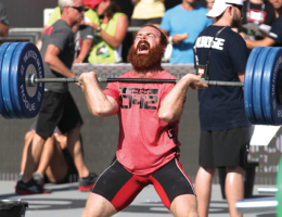 Max Clean Test at the 2012 CrossFit Games